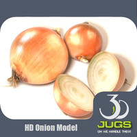 3d onion vegetables model