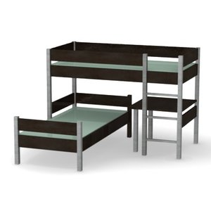 3d model of bed double