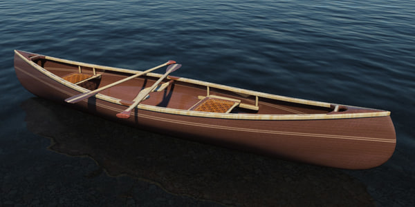canoe woodworker sue 3d model