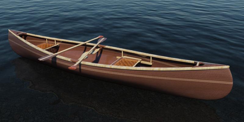canoe woodworker sue 3d model