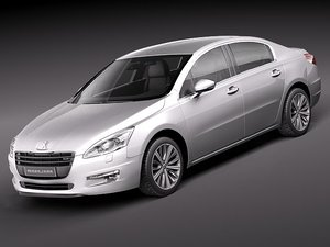 3d model peugeot 508 sedan