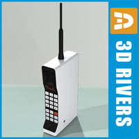 3d model mobile phones motorola dynatac