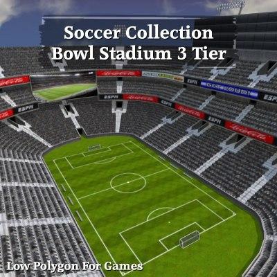 soccer bowl stadium 3 obj
