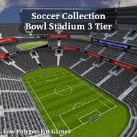 Soccer Collection Bowl Stadium 3 Tier