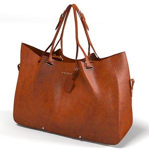 prada women bag 3d model