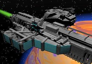 3ds max rail ship comet