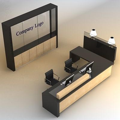 3d reception desk