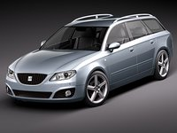 3d model of seat exeo st