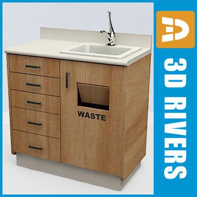dental cabinet sink 3d max