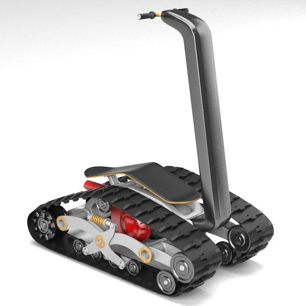 track personal vehicle 3d max