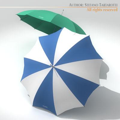 3d umbrellas model