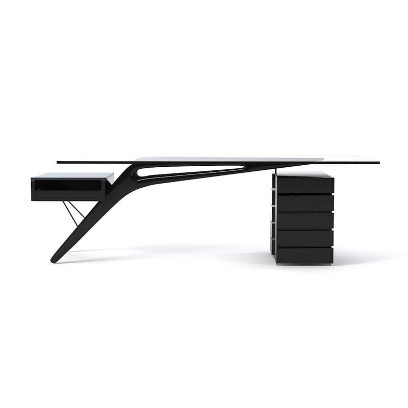 zanotta cavour table 3d model