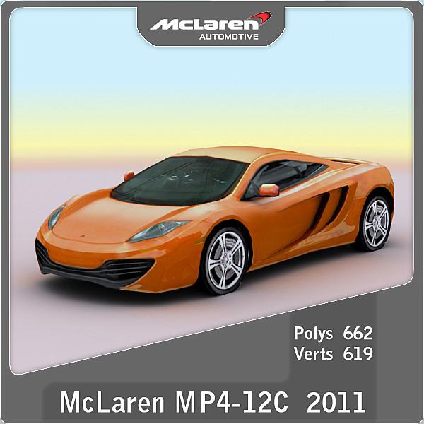 2011 mclaren mp4-12c 3d model