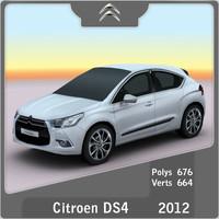 2012 citroen ds4 3d model
