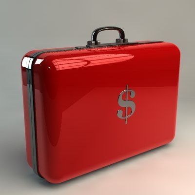 suitcase business case 3d model