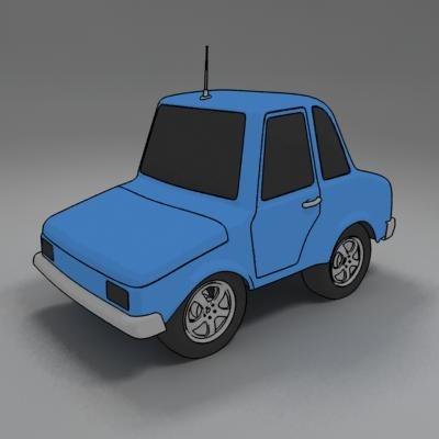 cartoon car toon 3d model