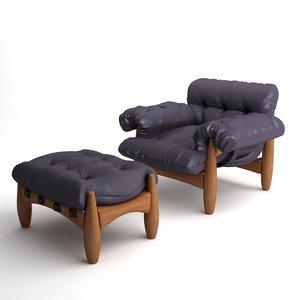 3d chair mole classicon model