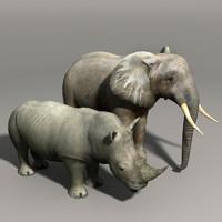 rhino elephant 3d max