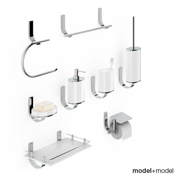 set bath accessories newform 3d model