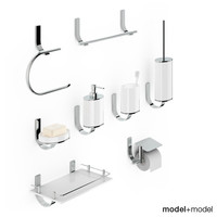 set bath accessories newform 3d model