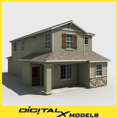 3ds max subdivision house