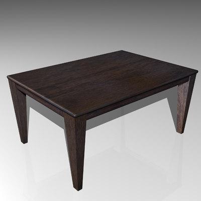 mahogany end table 3d model