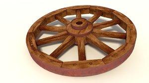 3d wagon wheel