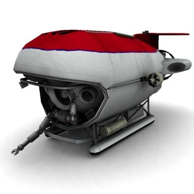 3d model underwater bathyscaphe