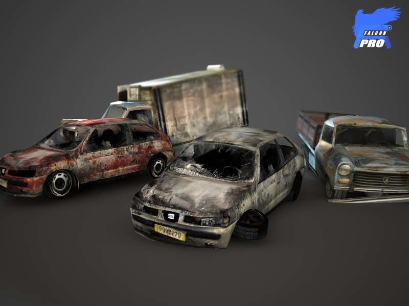 3d model wreak car iii