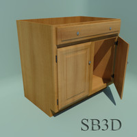 Cabinet Sink Base 36 inch with functional doors