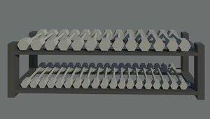 weight dumbels 3d model