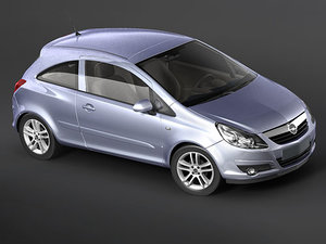 3d model opel corsa city car