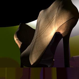 heels shoes 3ds