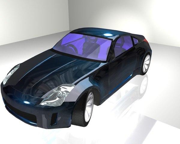 free 350z nissan 350 3d model