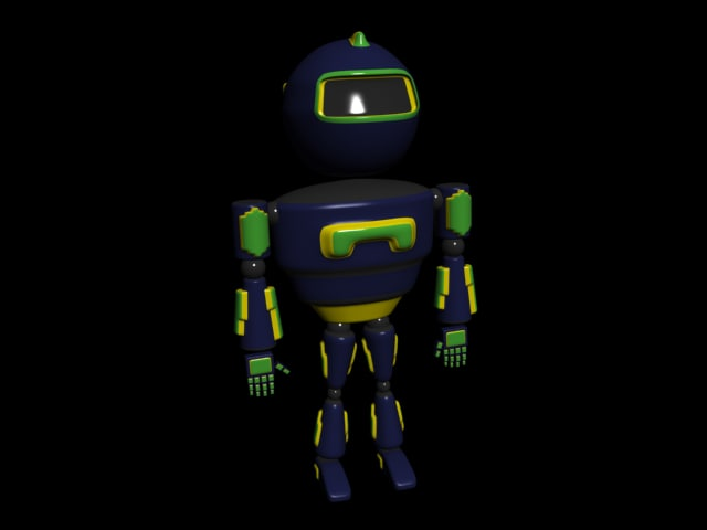 3d cartoon robot model
