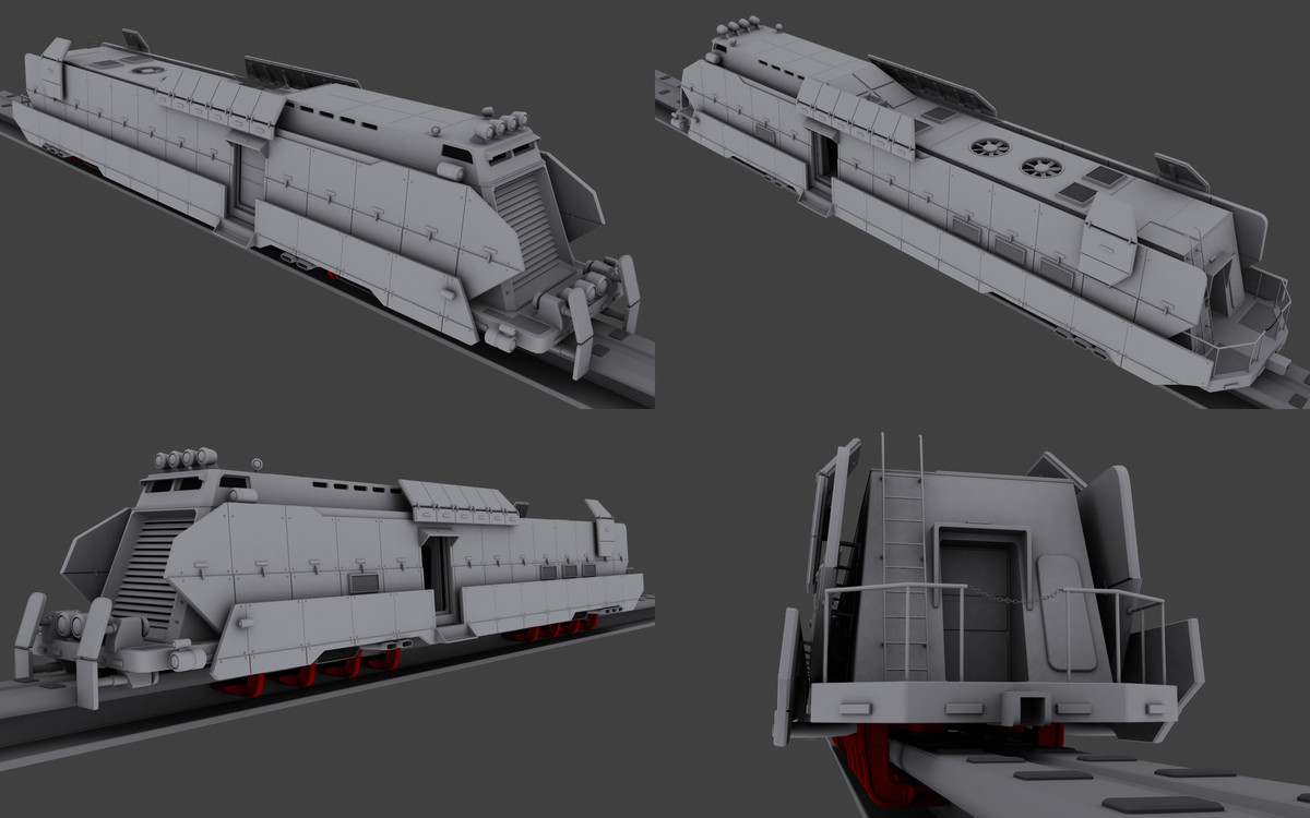 armored train 3d max