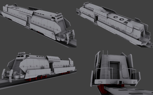 armored train 3d max