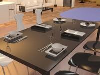 3dsmax black white table