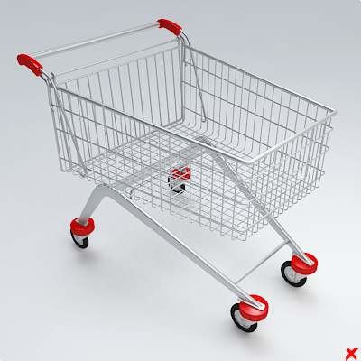 3d cart shopping model