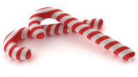3d candy cane model