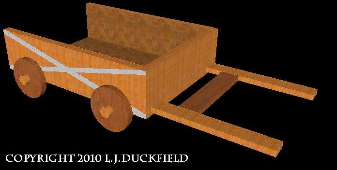 x wooden cart mmorpg