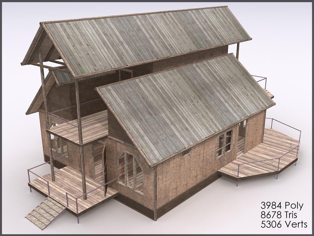 3d model cottage interiors