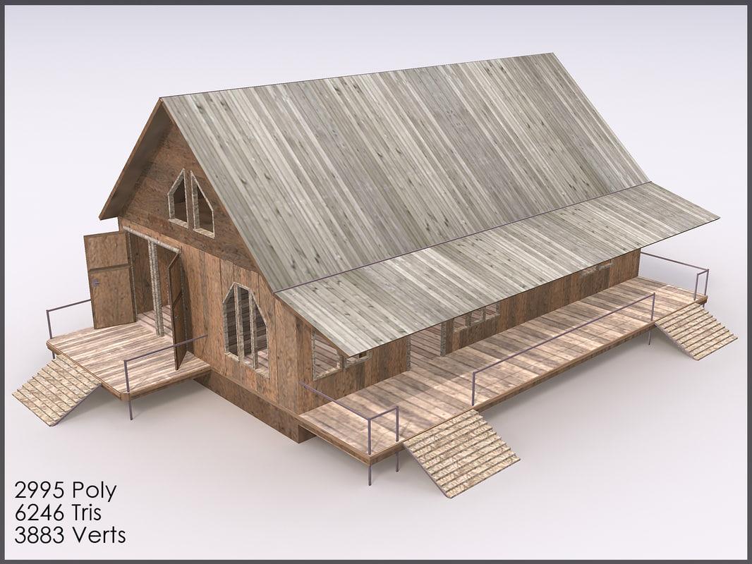 3d cottage interiors