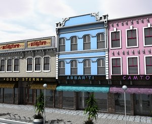 3d city citypart building street model