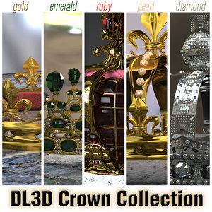 5 crowns - 3d max