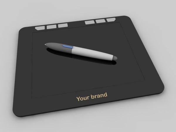 3d c4d graphic tablet pen