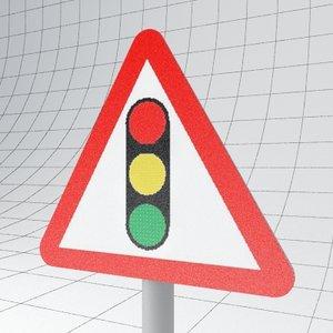 traffic signals ahead - 3d max