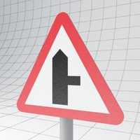 3d traffic road ahead right