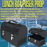 3d model lunch box poser prop
