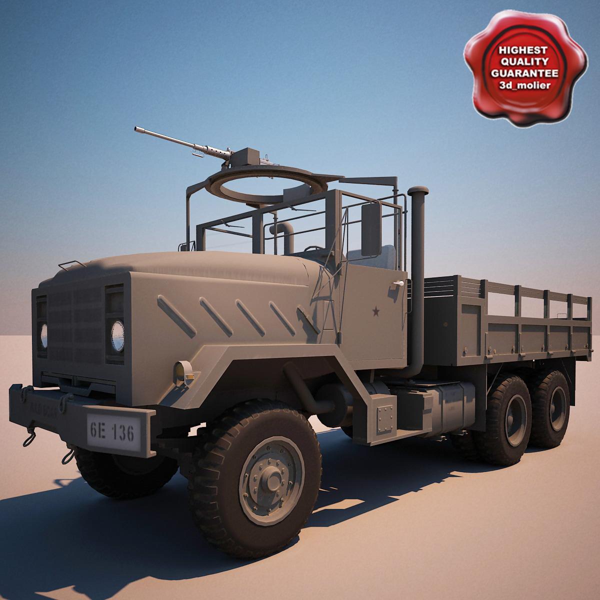 3d model of m923 transport truck v3